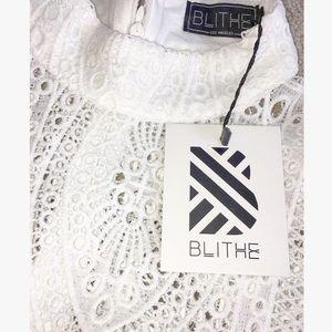 Boutique Shorts - ➳ Boutique White Lace Boho Romper